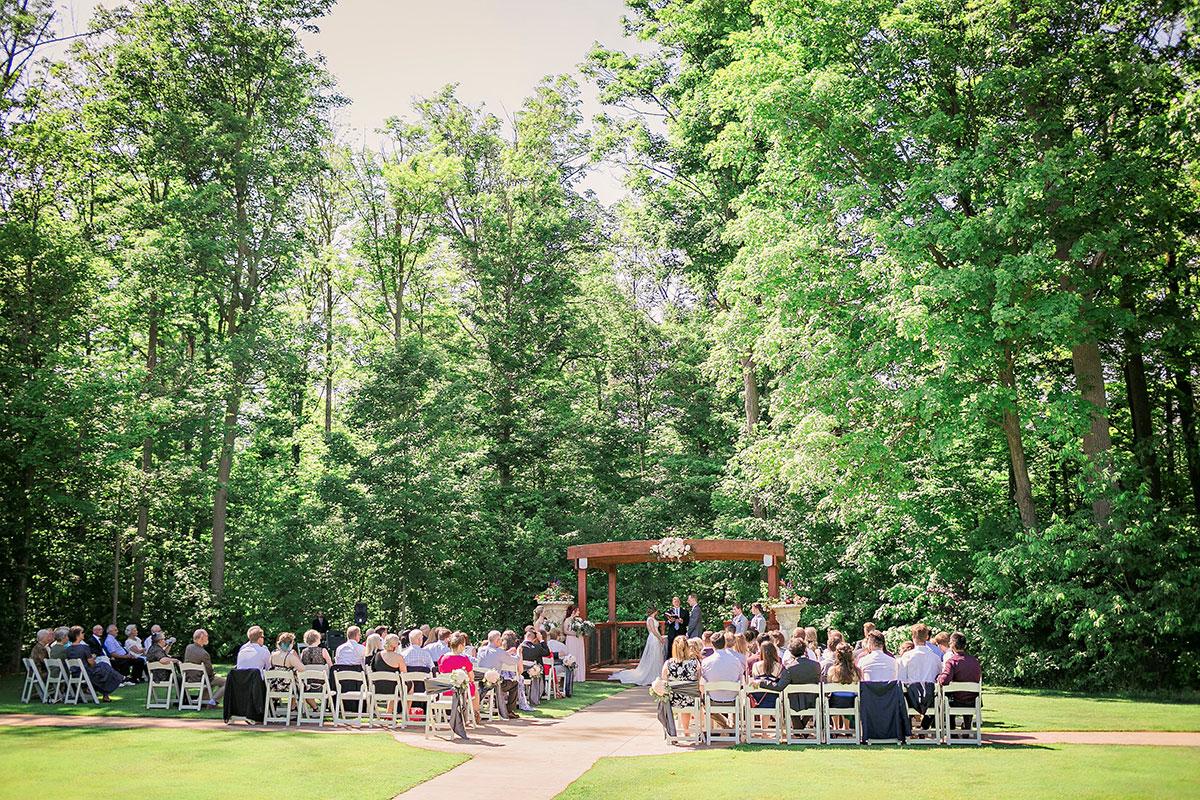 Crosswinds Wedding Ceremony Trees