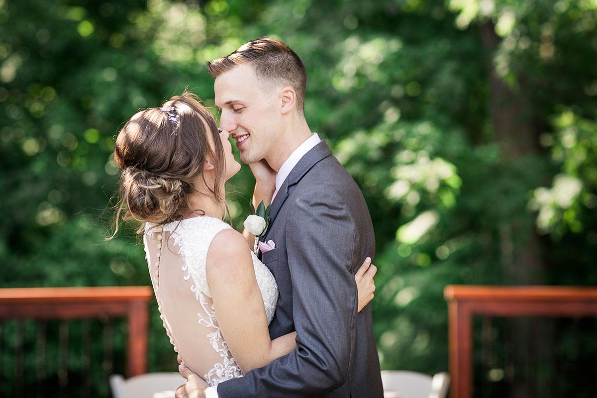 Crosswinds Wedding Ceremony Kiss