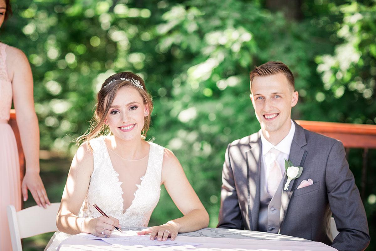 Crosswinds Wedding Ceremony Signing