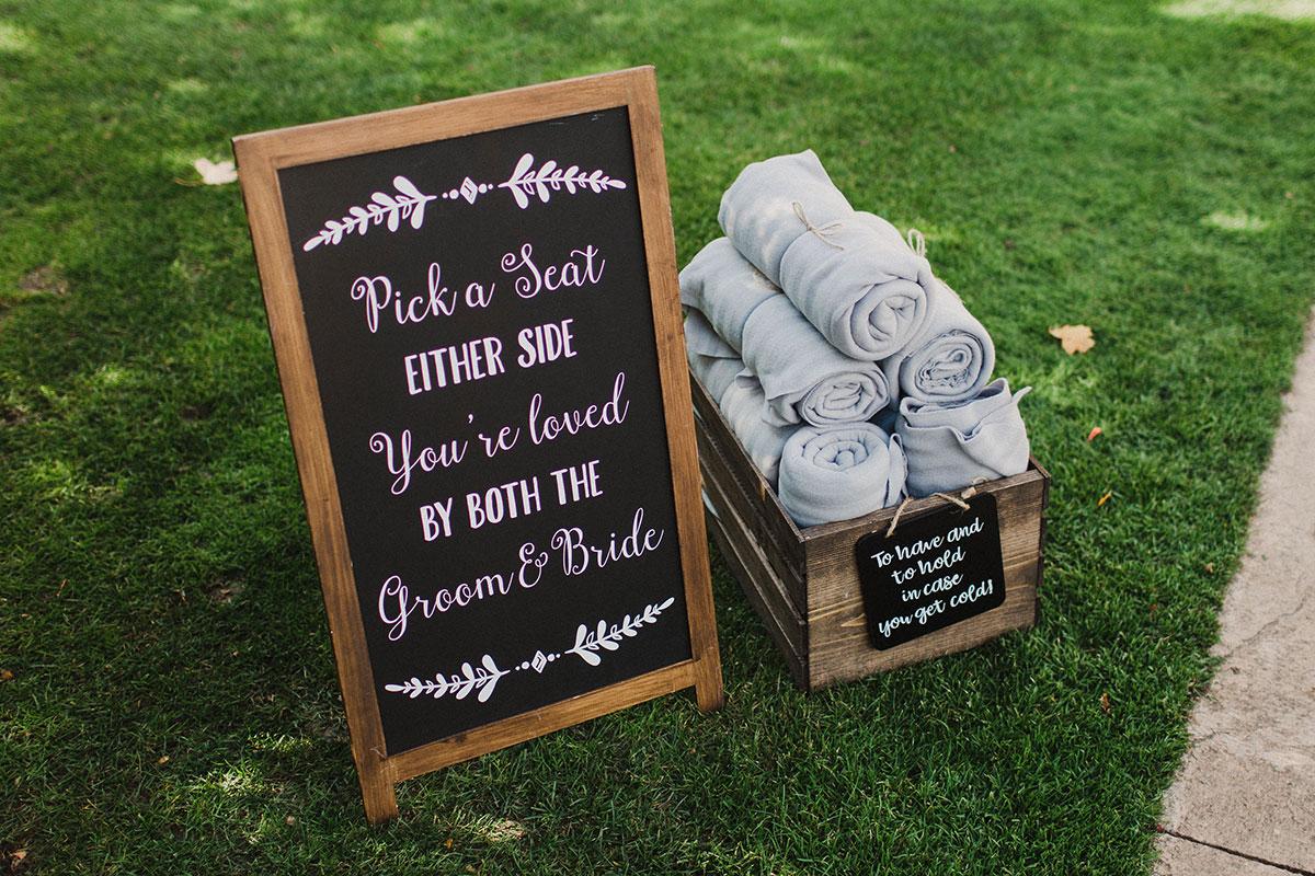 Crosswinds Wedding Ceremony Signs