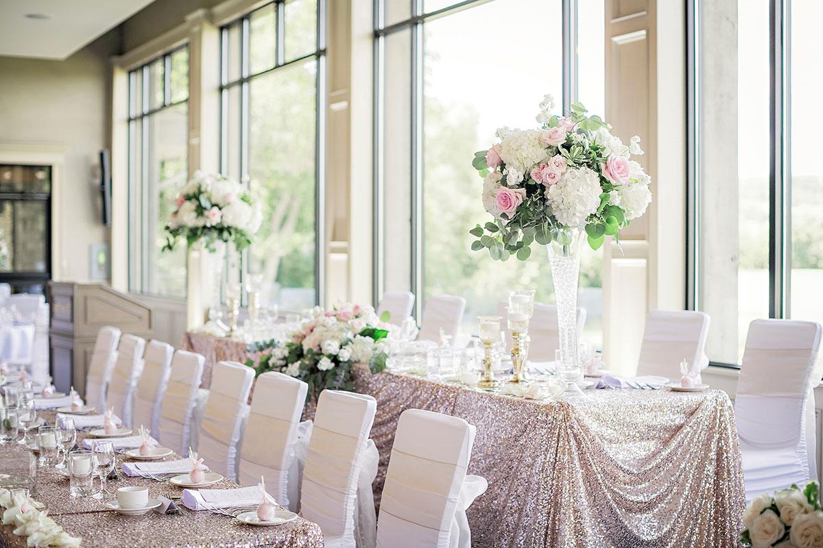 Crosswinds Grand Hall wedding decor