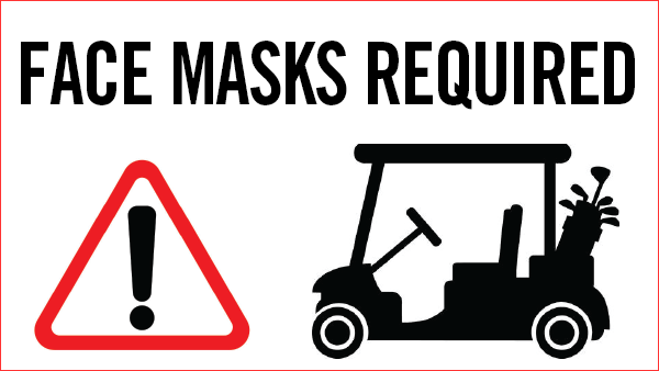 Carts and Face Masks at Crosswinds Golf