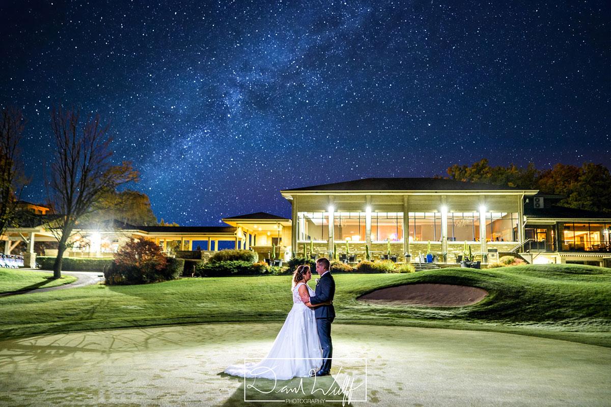 Night skies, stars and the Milky Way Crosswinds wedding photos Burlington