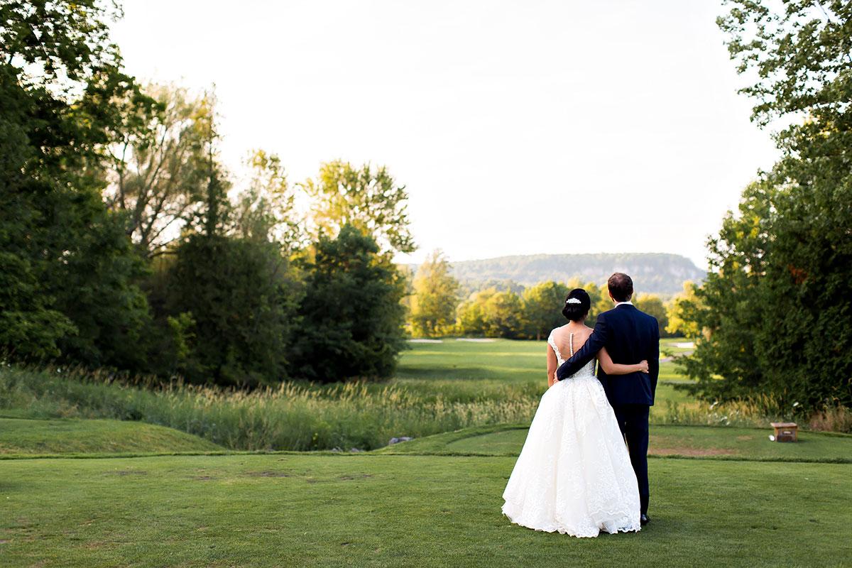 Niagara Escarpment views with Crosswinds wedding photos in Burlington