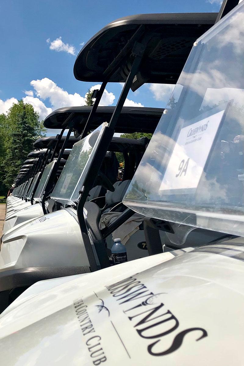 Golf Tournament Power Carts at Crosswinds Golf in Burlington, Ontario