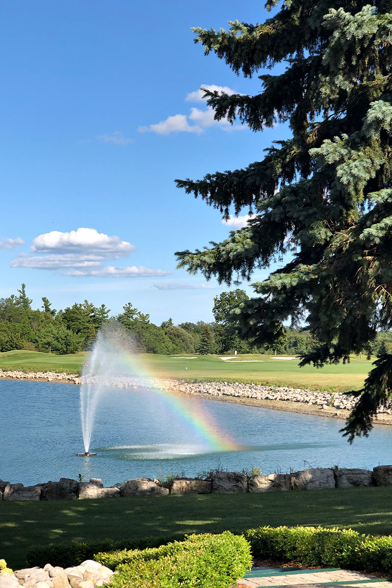 Golf Course Water Feature and Fountain in Burlington at Crosswinds
