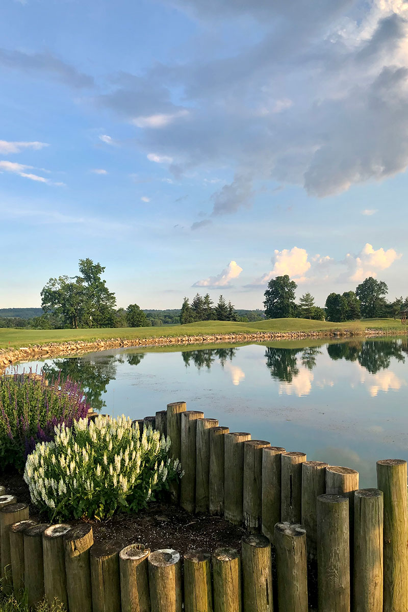 Water Feature and Landscaping at Crosswinds Golf Burlington