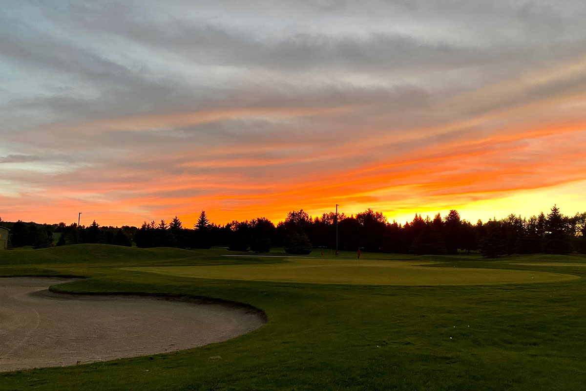 Glowing Sunrise at Crosswinds Golf and Country Club Burlington