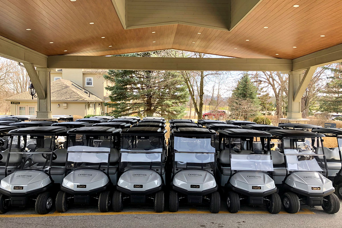 Power Golf Carts at Crosswinds Golf and Country Club Burlington