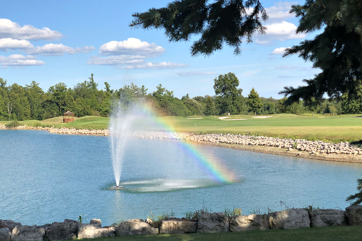 Water Feature at Crosswinds Golf and Country Club Burlington