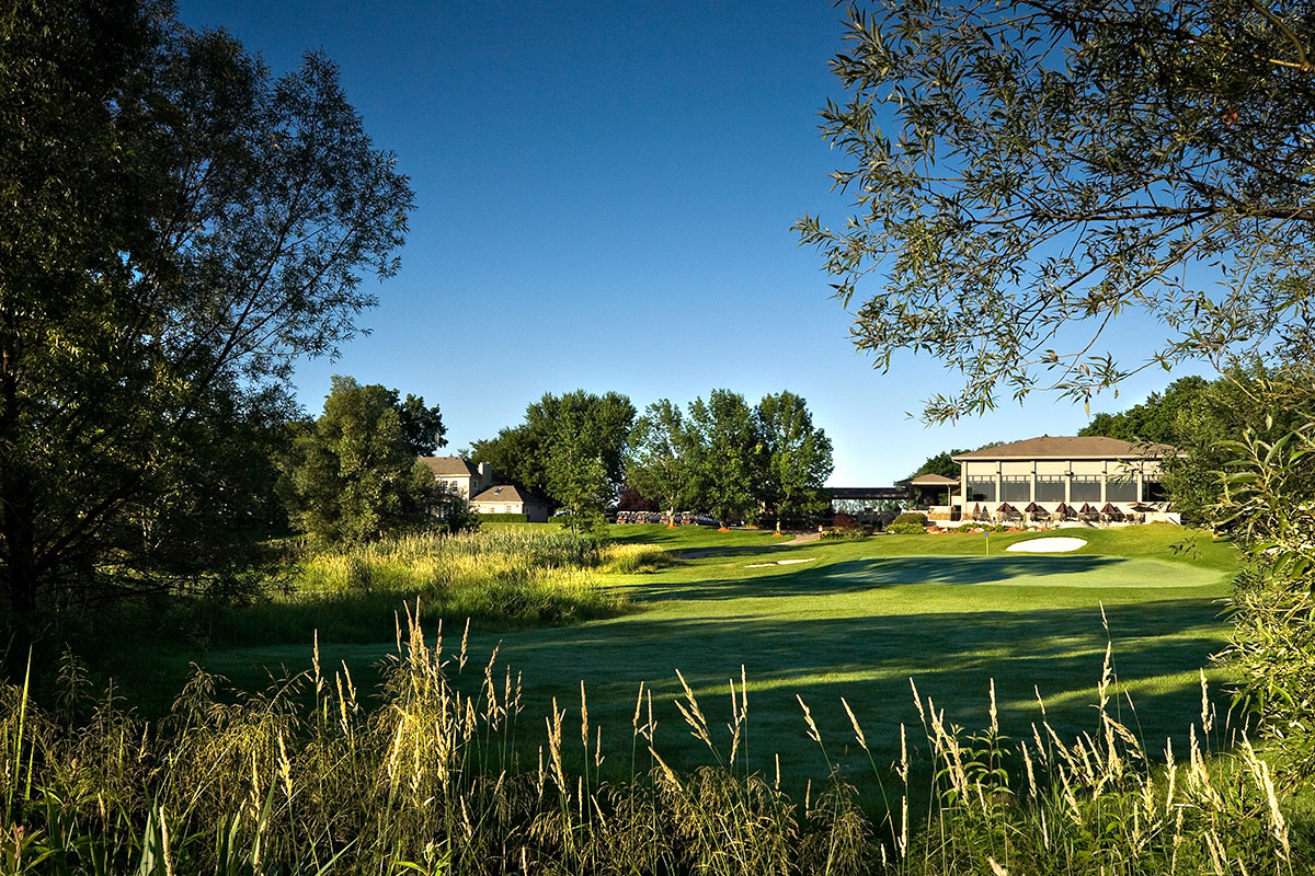 Clubhouse and Green at Crosswinds Burlington