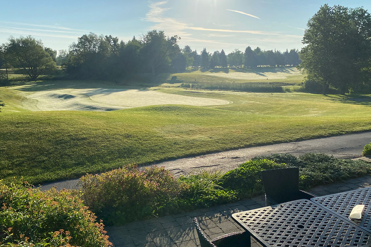 Crosswinds Golf Patio Morning View