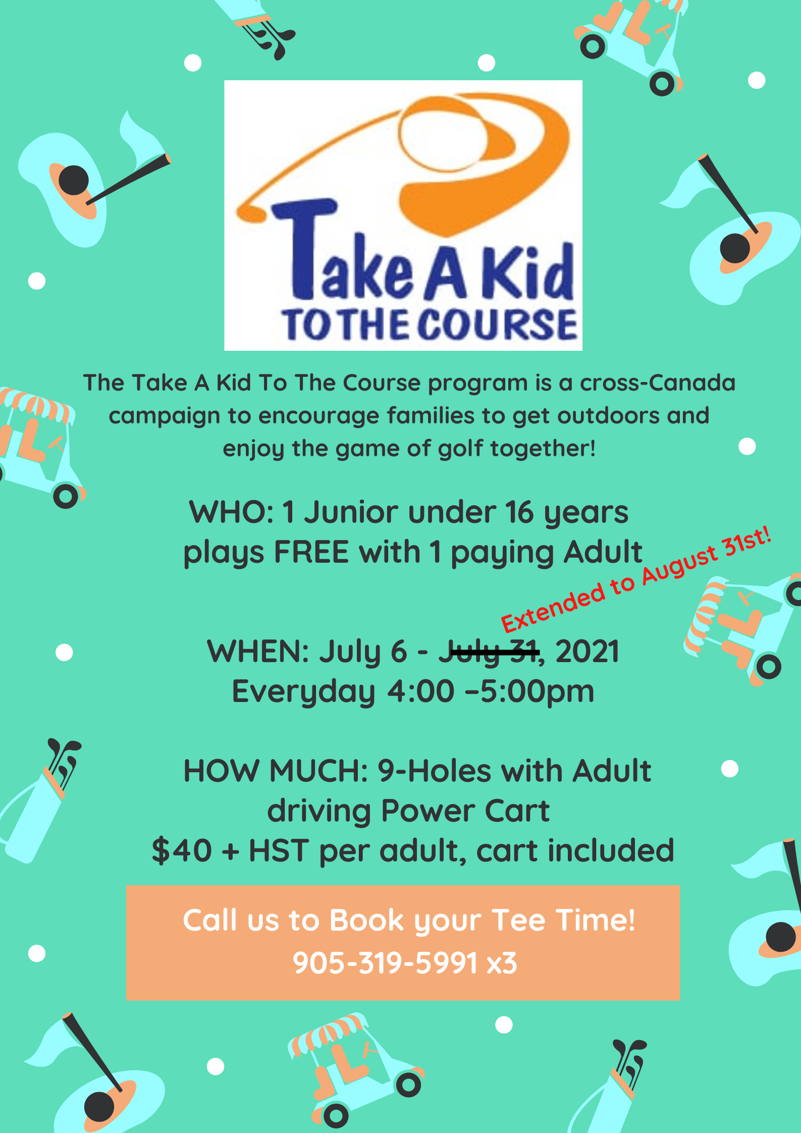 Take a Kid to the Course at Crosswinds